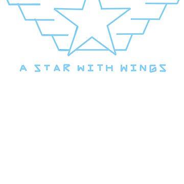 winged star by Madas