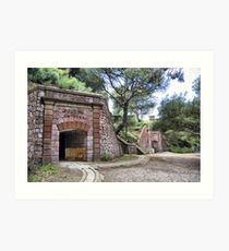 Tunnels, Bateria de Cenizas, Costa Calida, Spain  Art Print