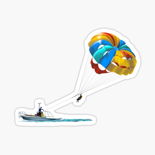parasailing Sticker