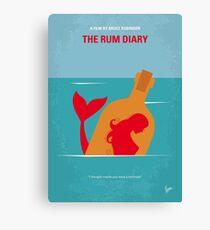 No925 My The Rum Diary minimal movie poster Canvas Print