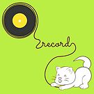 Little Kitten Recording her Lime Music by thewishdesigns