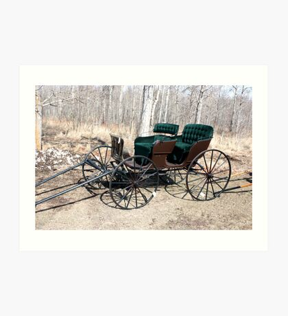 """""""Are You Ready Yet?* Four  Passenger  Pleasure  Buggy  With Velvet Seats Art Print"""