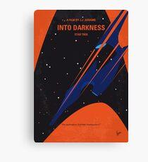 No931 My ST Into Darkness minimal movie poster Canvas Print