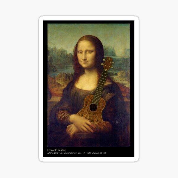 Mona Lisa [with ukulele] Sticker