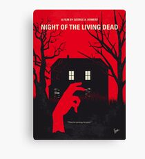 No935 My Night of the Living Dead minimal movie poster Canvas Print