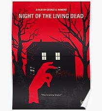 Póster No935 Cartel de la película minimalista My Night of the Living Dead