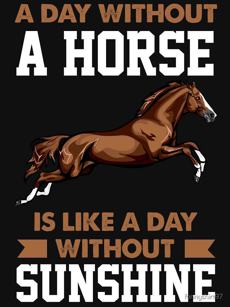 Funny A Day Without a Horse is like a Day Withput Sunshine Crazy ...