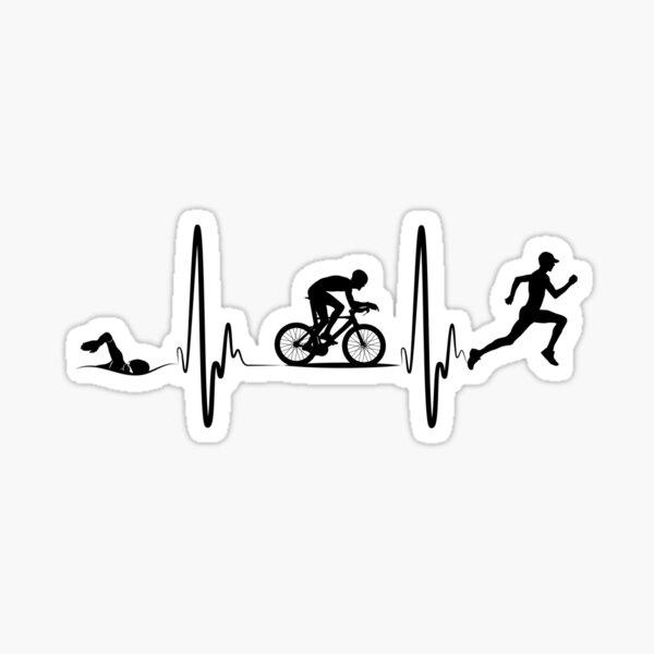Chemise cadeau triathlon Sticker