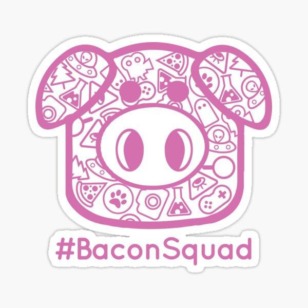 #BaconSquad - Pink Sticker