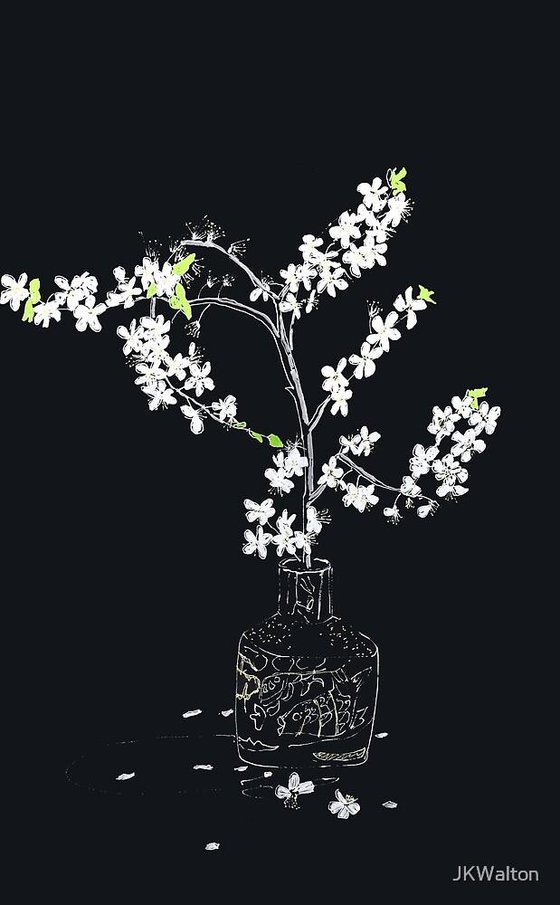 Wild Plum Blossom Drawing by JKWalton