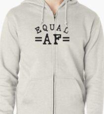 EQUAL AF black Zipped Hoodie