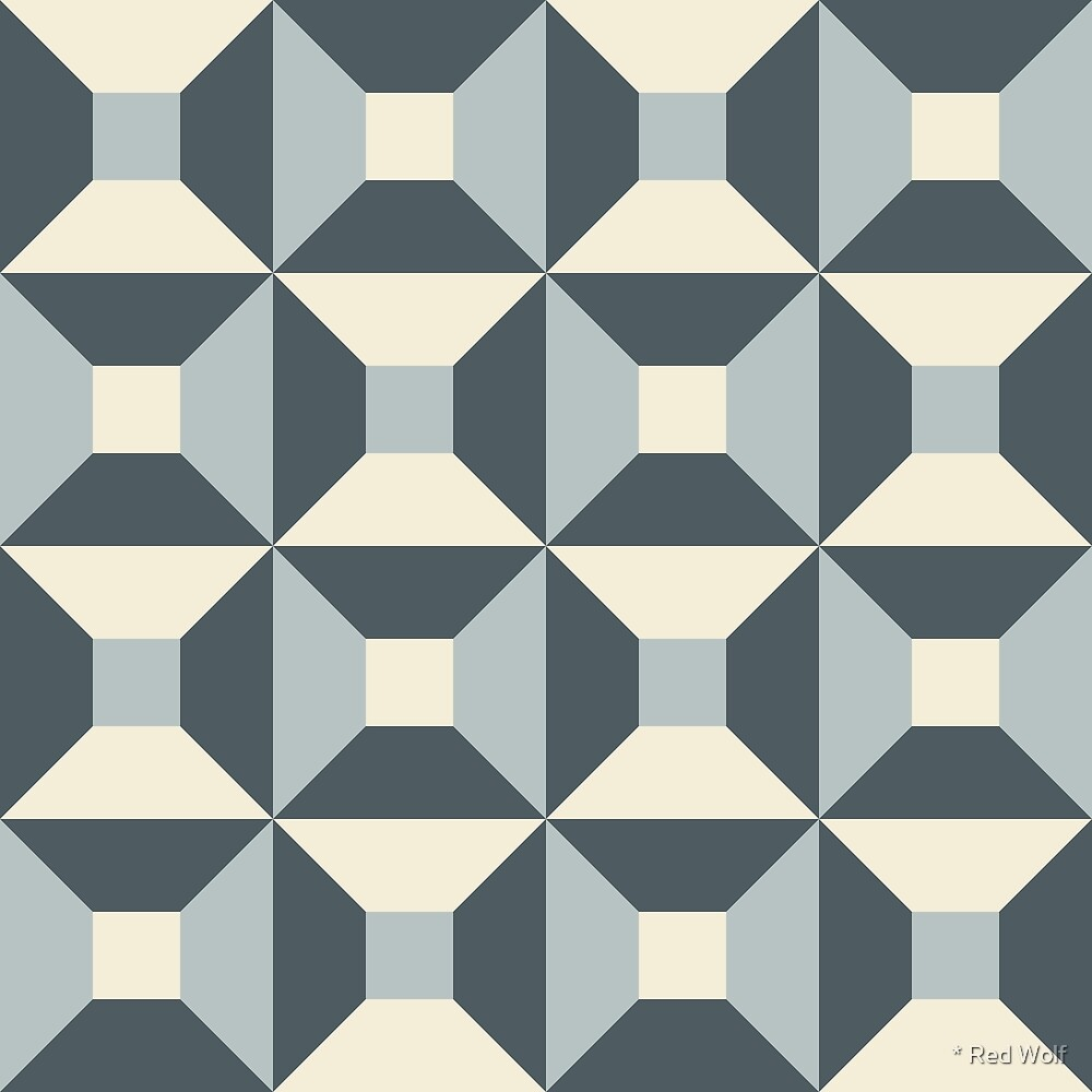 Geometric Pattern: Square Check: Steel by * Red Wolf