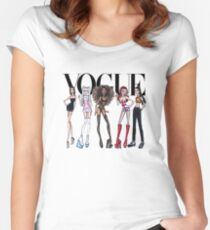spice girls vogue Women's Fitted Scoop T-Shirt