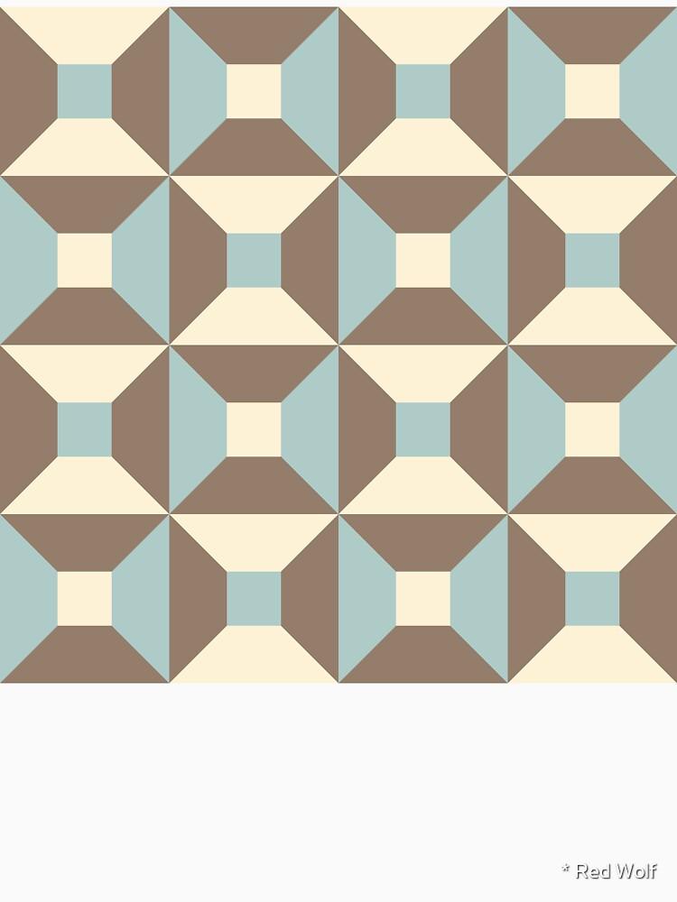 Geometric Pattern: Square Check: Brown by redwolfoz