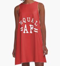 EQUAL AF white A-Line Dress