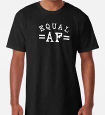 EQUAL AF white Long T-Shirt