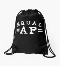 EQUAL AF white Drawstring Bag