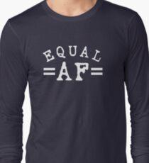 EQUAL AF white Long Sleeve T-Shirt