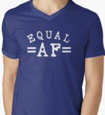 EQUAL AF white Men's V-Neck T-Shirt
