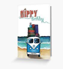 Hippie Geburtstagskarte Grußkarte