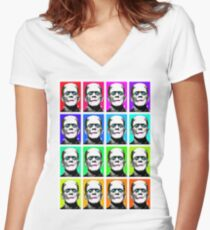 Many Frankie's Women's Fitted V-Neck T-Shirt