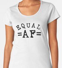 EQUAL AF black Premium Scoop T-Shirt
