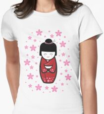 Cute and Adorable Japanese doll Women's Fitted T-Shirt