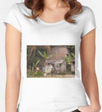 Everyday Life In Las Flores - 1 ©  Women's Fitted Scoop T-Shirt