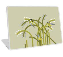 Three Great Tits vector illustration Laptop Skin
