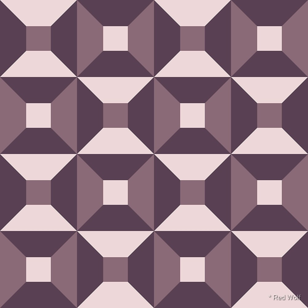 Geometric Pattern: Square Check: Autumn by * Red Wolf