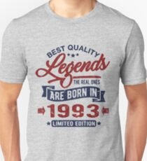 Legends are born in 1993 Unisex T-Shirt