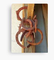 Old Horse Shoes Canvas Print
