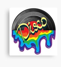 Music in the style of DISCO Canvas Print