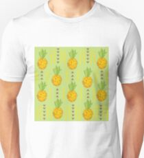 pineapple plantation bright sunny background. Unisex T-Shirt