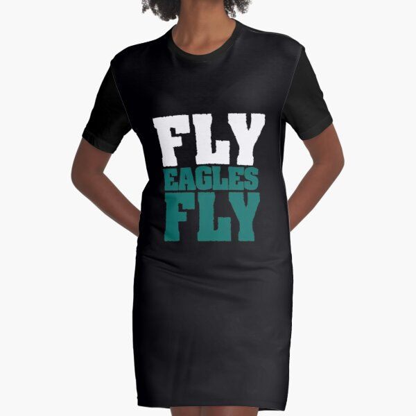 Fly Eagles Fly Philadelphia Football Graphic T-Shirt Dress
