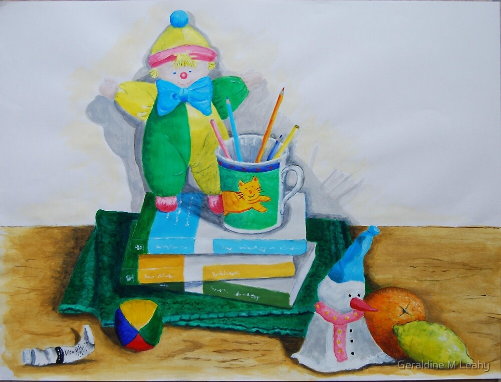 Still Life with Clown by Geraldine M Leahy