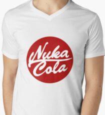 Nuka Cola Red Circle Logo Men's V-Neck T-Shirt