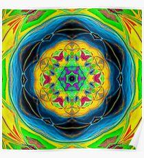 Mandala Higher Vibes Poster