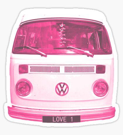 Pink VW Campervan Sticker