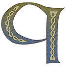 Celtic Knotwork Alphabet - Letter Q by Carrie Dennison