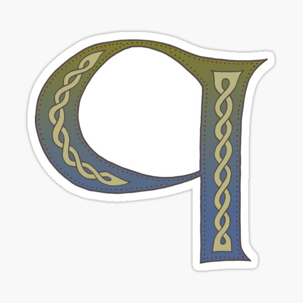 Celtic Knotwork Alphabet - Letter Q Sticker