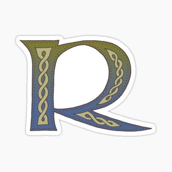 Celtic Knotwork Alphabet - Letter R Sticker