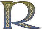 Celtic Knotwork Alphabet - Letter R by Carrie Dennison