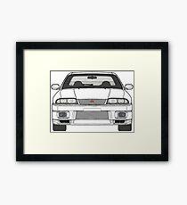 Nissan Skyline R33 GT-R (front) V2.0 Framed Print