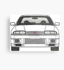 Nissan Skyline R33 GT-R (front) V2.0 Metal Print