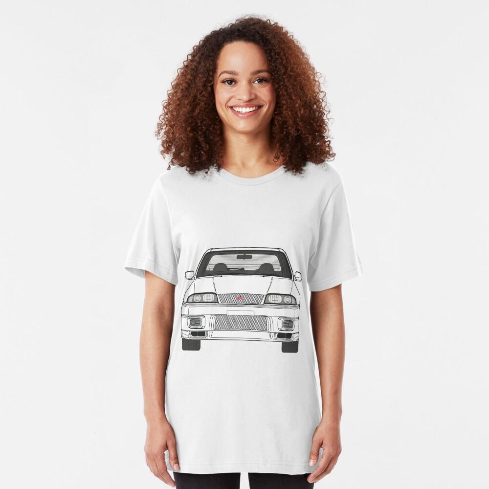 Nissan Skyline R33 GT-R (front) V2.0 Slim Fit T-Shirt