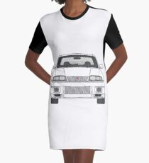 Nissan Skyline R33 GT-R (front) V2.0 Graphic T-Shirt Dress