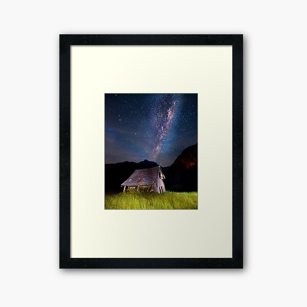 The barn at the end of the universe Framed Art Print