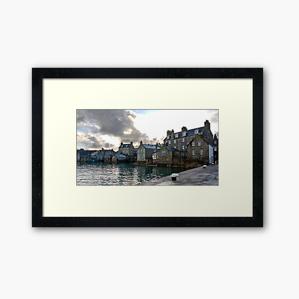 Lerwick Harbour, Shetland Islands, Scotland Framed Art Print