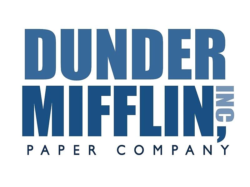 Dunder Mifflin The Office Logo Canvas Prints By Caseyward